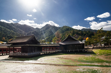 The old japanese buildings
