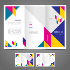 brochure design template abstract colored figure