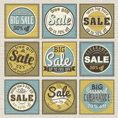 Set of special sale offer labels and banners , vector