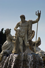 Neptune fountain in front of Schenbrunn palace in Vienna