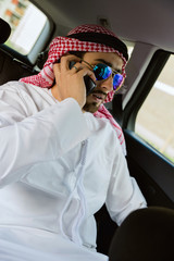 Arabian Buinessman In Car