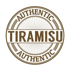 Tiramisu stamp