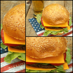 collage burger