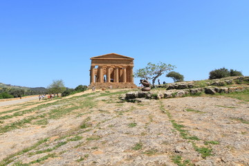 ancient architecture on a hill in Agrigento