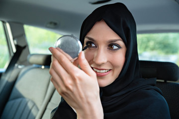 Arabic Woman In Car
