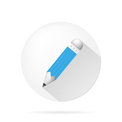 Icon for blog. Blue pencil.