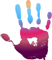 Рука испачкалась в краске