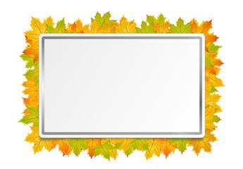 Schild Herbst