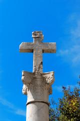 Stone Cross on a Column