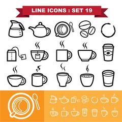Line icons set 19
