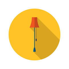 Lamp icon over yellow
