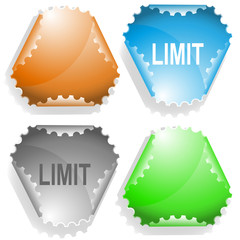 Limit. Vector sticker.
