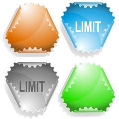 Limit. Vector sticker.