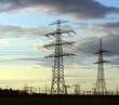 canvas print picture - Strommasten zum Energietransport
