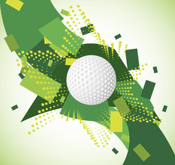 Green golf background