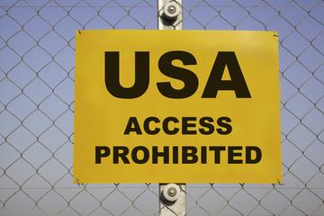 USA prohibited