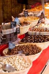 selection of chocolates.