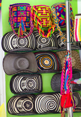 shop display og traditional colombian sombreros.