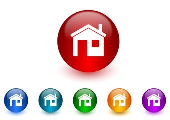 house icon vector set