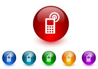 phone icon vector set