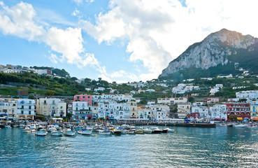 the harbour of Capri island