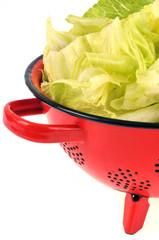 Salade dans la passoire