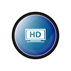 HD format glossy vector icon, blue button