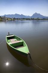 Ruderboot am Hopfensee