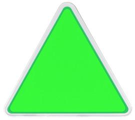 triangle de signalisation sans marquage