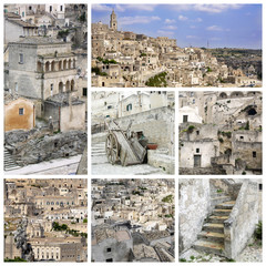 Matera collage - Italy