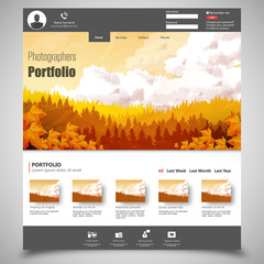 photographers portfolio template Eps 10