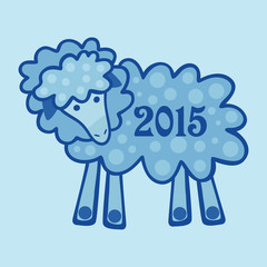 Blue lamb with the new 2015
