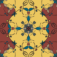 Seamless colorful pattern - background