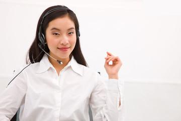 Young female customer service representative