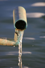 flowing water from pipe