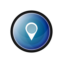 Place vector icon, button