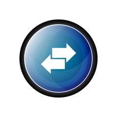 Two arrows vector icon, button