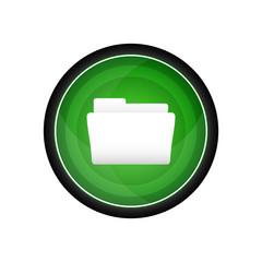 File folder glossy vector icon, button