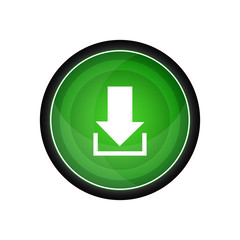 Download vector icon, green button