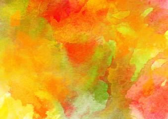 Autumn Colors Watercolor Background.