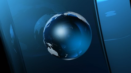 3D glass earth sphere