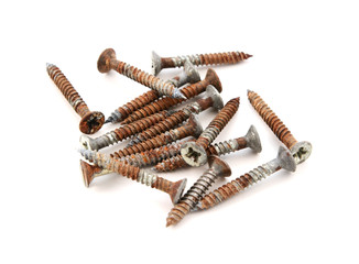 Rusty wood screws