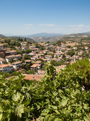 View over the turkish village of Sirince