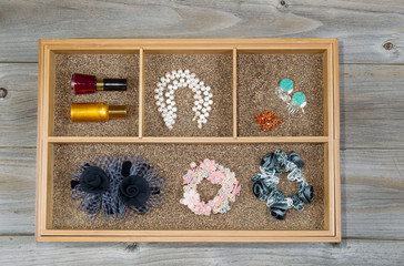 Woman Accessories placed in Drawer