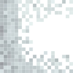 Grey seamless pattern with squares shapes.