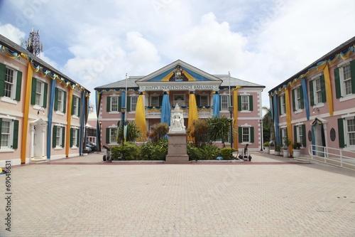 Fotobehang Centraal-Amerika Landen Centre ville de Nassau Bahamas