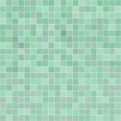 Green seamless pattern with squares shapes.
