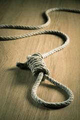 Noose on the floor