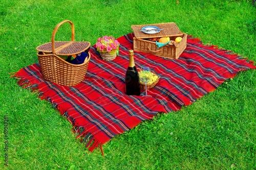 Foto op Canvas Picknick Picnic on the Lawn