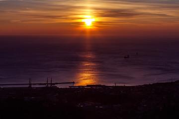 Tramonto su Trieste